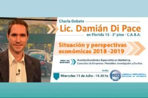 Invitación a Charla/Debate con el Lic. Damián Di Pace